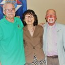 Grand Knight Tom and Mary Lou Goodhart with area co-coordinator Bob Harp.