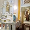 St. Elizabeth of Hungary Church has many statues of angels which serve as light bearers