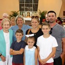 Pictured is Eileen Dunn and her daughter Nancy Flossie, grandchildren Brittany and Ryan and  great-grandchildren Rylan, Quinn, and Phiona.